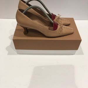 Brand New Antonio melani tan color heels. Size 7.5